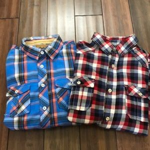 Pair of boys L Red Camel shirts. EUC